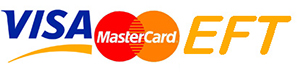 Payment by Visa Mastercard or EFT