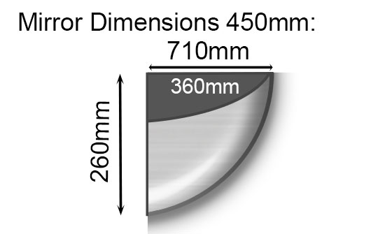 Quarter Dome Mirror Dimensions